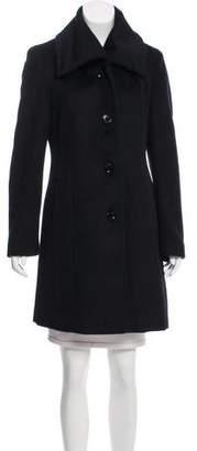 Calvin Klein Wool Pointed Collar Coat