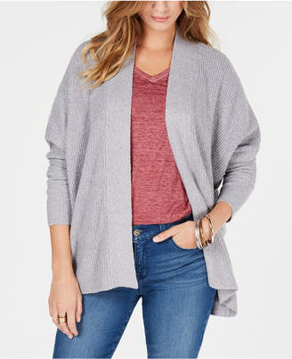 Style&Co. Style & Co Ribbed Open-Front Cardigan