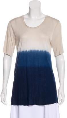 Raquel Allegra Ombré Scoop Neck T-shirt