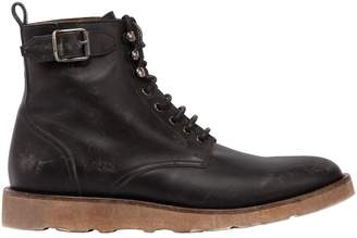Belstaff Chancery Vintage Effect Leather Boots