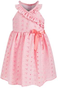 Bonnie Jean Toddler Girls Gingham-Print Eyelet Dress