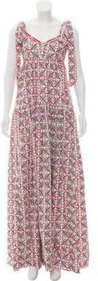 Caroline Constas Printed Maxi Dress w/ Tags