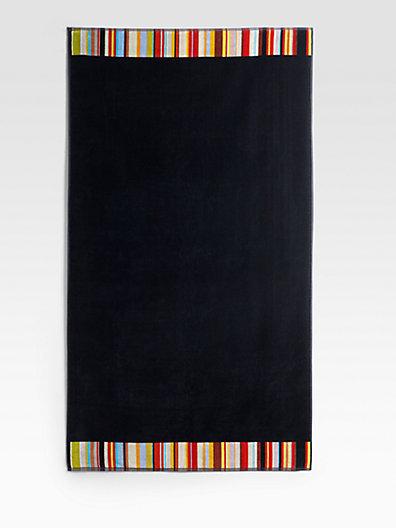 Paul Smith Stripe-Trim Beach Towel