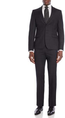 DKNY Two-Piece Grey Windowpane Suit