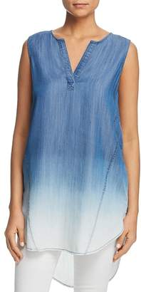 BeachLunchLounge Dip-Dyed Chambray Tunic Top