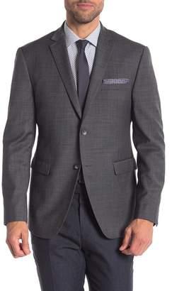 Original Penguin Charcoal Solid Two Button Notch Lapel Trim Fit Suit Separates Jacket