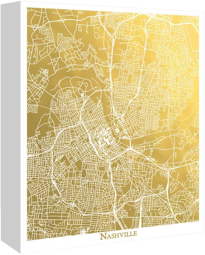 Americanflat Nashville by The Gold Foil Map Company (Canvas)