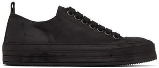 Ann Demeulemeester Black Suede Sneakers