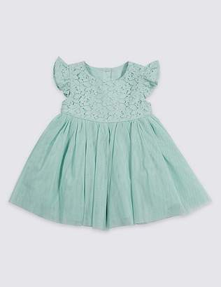 Marks and Spencer Frill Lace Baby Dress