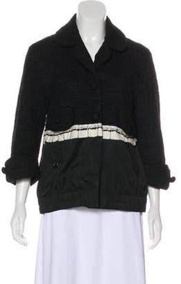 Marc Jacobs Tweed Notch-Lapel Jacket Black Tweed Notch-Lapel Jacket