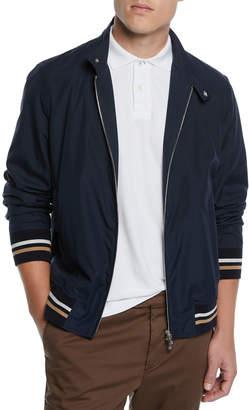 Brunello Cucinelli Men's Moto Collar Bomber Jacket