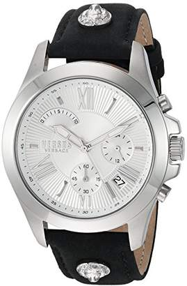 Versus By Versace Men's 'Chrono Lion Extension' Quartz Stainless Steel and Leather Watch