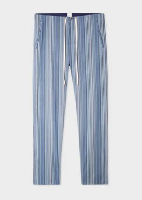 Paul Smith Men's Blue Signature Stripe Cotton Pyjama Bottoms