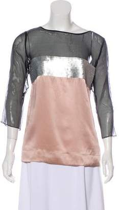 RED Valentino Sequined Silk Top