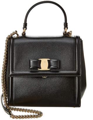 Salvatore Ferragamo Carrie Small Leather Satchel