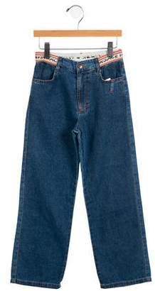 Versace Girls' Three-Pocket Jeans w/ Tags
