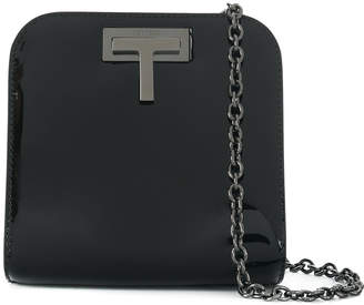 T logo plaque shoulder bag