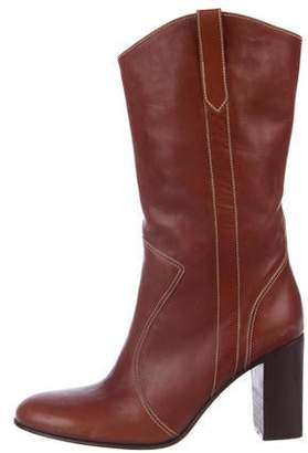 Calypso Leather Mid-Calf Boots