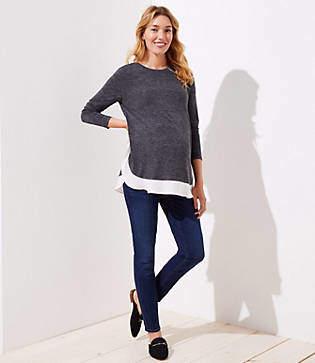 LOFT Petite Maternity Skinny Jeans in Staple Dark Indigo Wash