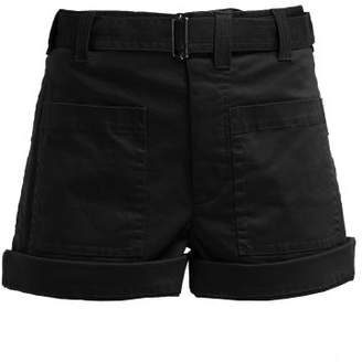Proenza Schouler Pswl - Utility Stretch Cotton Twill Shorts - Womens - Black