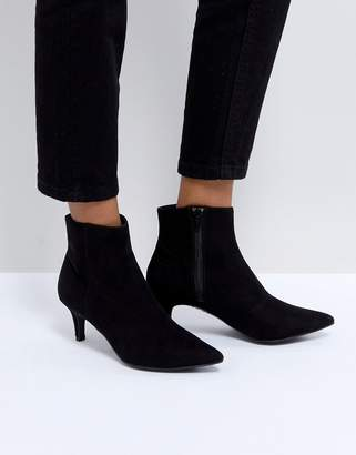 New Look Pointed Kitten Heel Ankle Boot