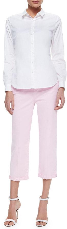 NYDJ Izzie Twill Capri Pants W/Bling Cuffs 2