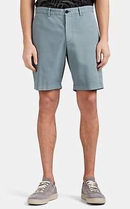 Theory Men's Zaine Cotton Shorts - Green