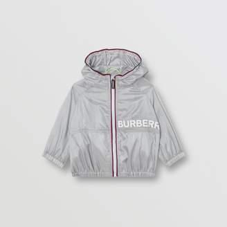 Burberry (バーバリー) - Burberry ロゴプリント パーフォレーテッド フーデッドジャケット