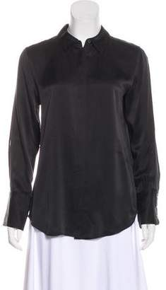 Kate Moss x Equipment Silk Button-Up Top