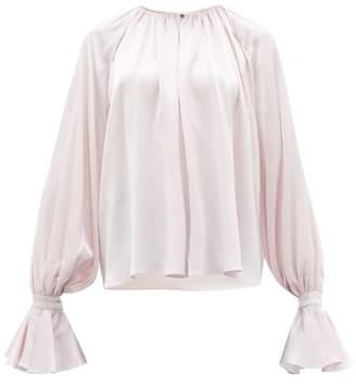 Roksanda Pia Fluted Cuff Silk Blouse - Womens - Light Pink
