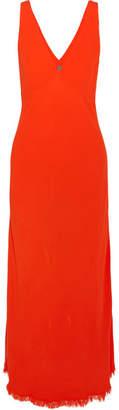Raquel Allegra Tulip Crepe Maxi Dress - Bright orange