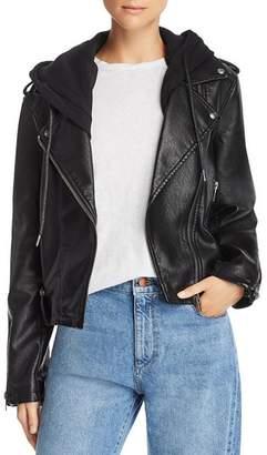 Blank NYC BLANKNYC Hooded Faux Leather Moto Jacket