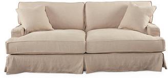 """One Kings Lane Nelson 84"""" Sofa - Antiqued Linen"""