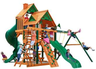 Gorilla Playsets Great Skye I Swing Set Canopy: Wood Roof