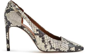 Reiss Our last order date for Christmas has now passed HALLEY SNAKE BUCKLE DETAIL POINTED HEELS Snake