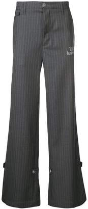Off-White flared pinstripe trousers