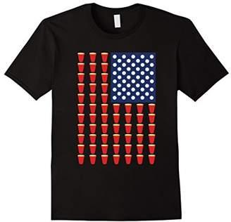 """America """"Beer Pong USA Flag"""" T-Shirt"""