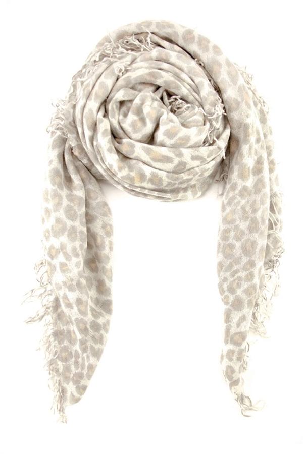 Chan LuuCHAN LUU White Leopard Scarf
