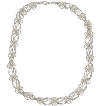 FINE JEWELRY Cultured Freshwater Pearl Sterling Silver Lace Necklace