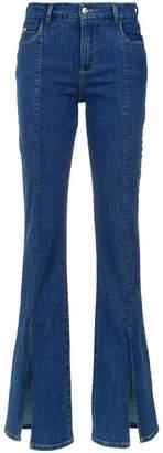 Tufi Duek slits flared trousers