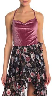 re:named apparel Velvet Halter Top