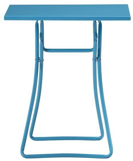 To-Go Aqua Folding Side Table