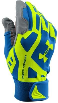 Under Armour Men's UA Cage Baseball Batting Gloves SUPERIOR BLUE