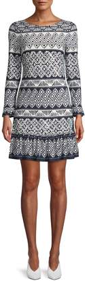 Eliza J Printed Shift Dress