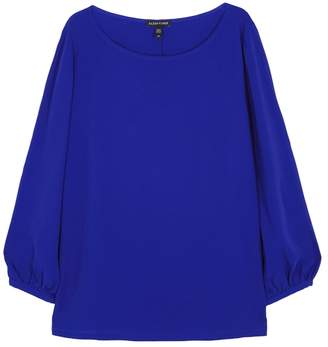 Eileen Fisher Blue Silk Crepe Top