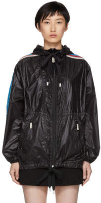 Marc Jacobs Black Nylon Hooded Windbreaker Jacket