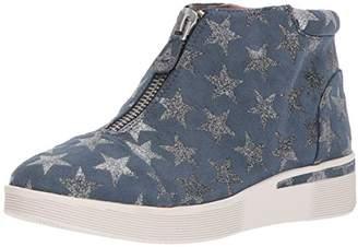 Gentle Souls by Kenneth Cole Women's Hazel-FAY Platform Midtop Sneaker Front Zip Shoe