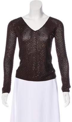 Ralph Lauren Black Label Knit Beaded Top