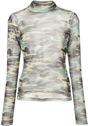 Sandy Liang camouflage long sleeve top