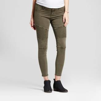 Ingrid & Isabel Isabel Maternity by Maternity Inset Panel Utility Jeggings - Isabel Maternity by Olive
